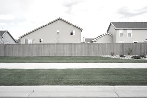 Fencing surrounding housing subdivision