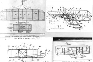 Wright brothers plane patent plans