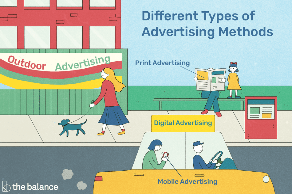 Different types of advertising illustration