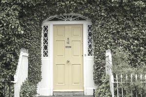 A Georgian Yellow Door