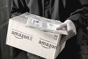 Packages being delivered from Amazon.
