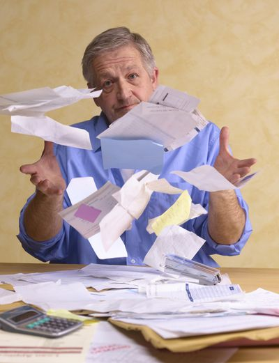 A mess of overdue invoices