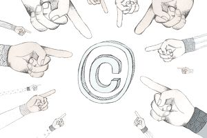 Illustration of copyright symbol