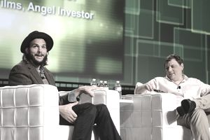 Katalyst Films Co-Founder and angel investor Ashton Kutcher and TechCrunch Founder and Co-Editor Michael Arrington