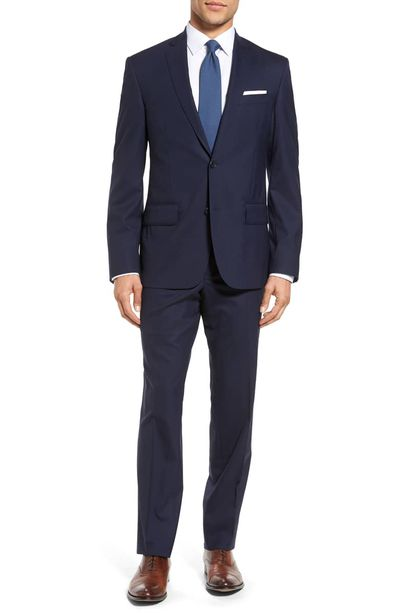 d002cc2a22b50e Best Overall: Nordstrom Men's Shop Tech-Smart Trim Fit Solid Stretch Wool  Suit