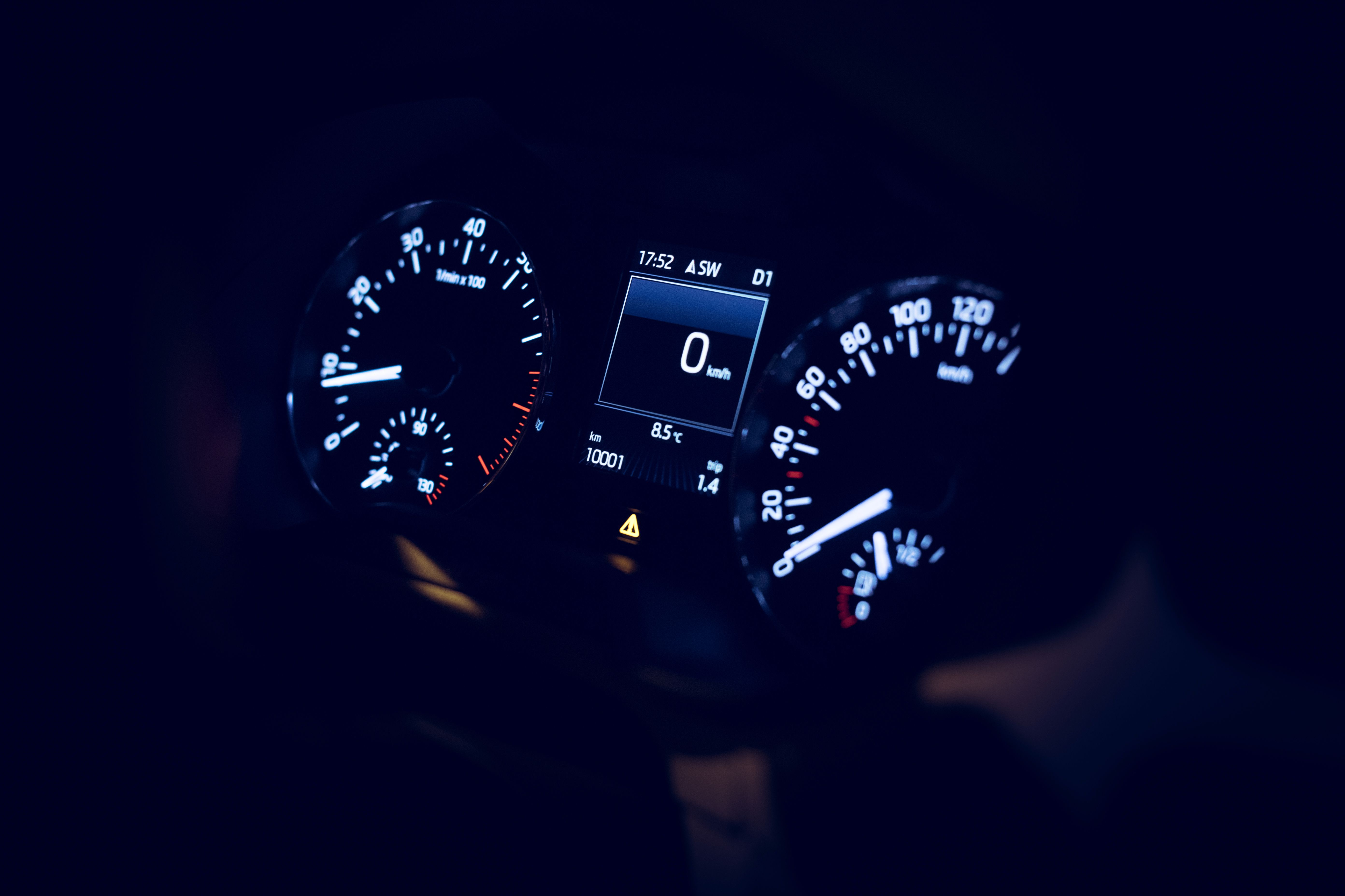 Mileage of a new car with 10001