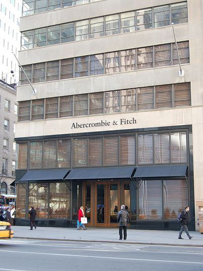 The outside of an Abercrombie & Fitch store