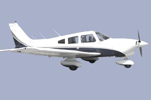 White and Blue Small Private Propeller Aircraft Flying in Blue Sky