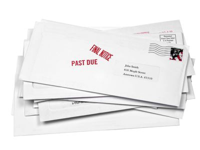 envelopes stamped with
