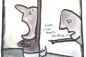 Liars cartoon