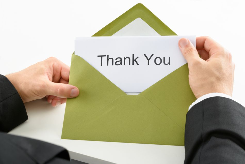Thank you by mail