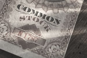 Common stock certificate