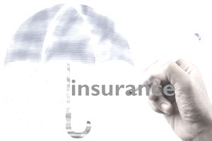 Conceptual image for insurance protection in illustration.