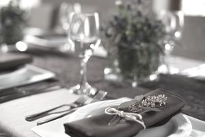 Table setting for charitable special event.