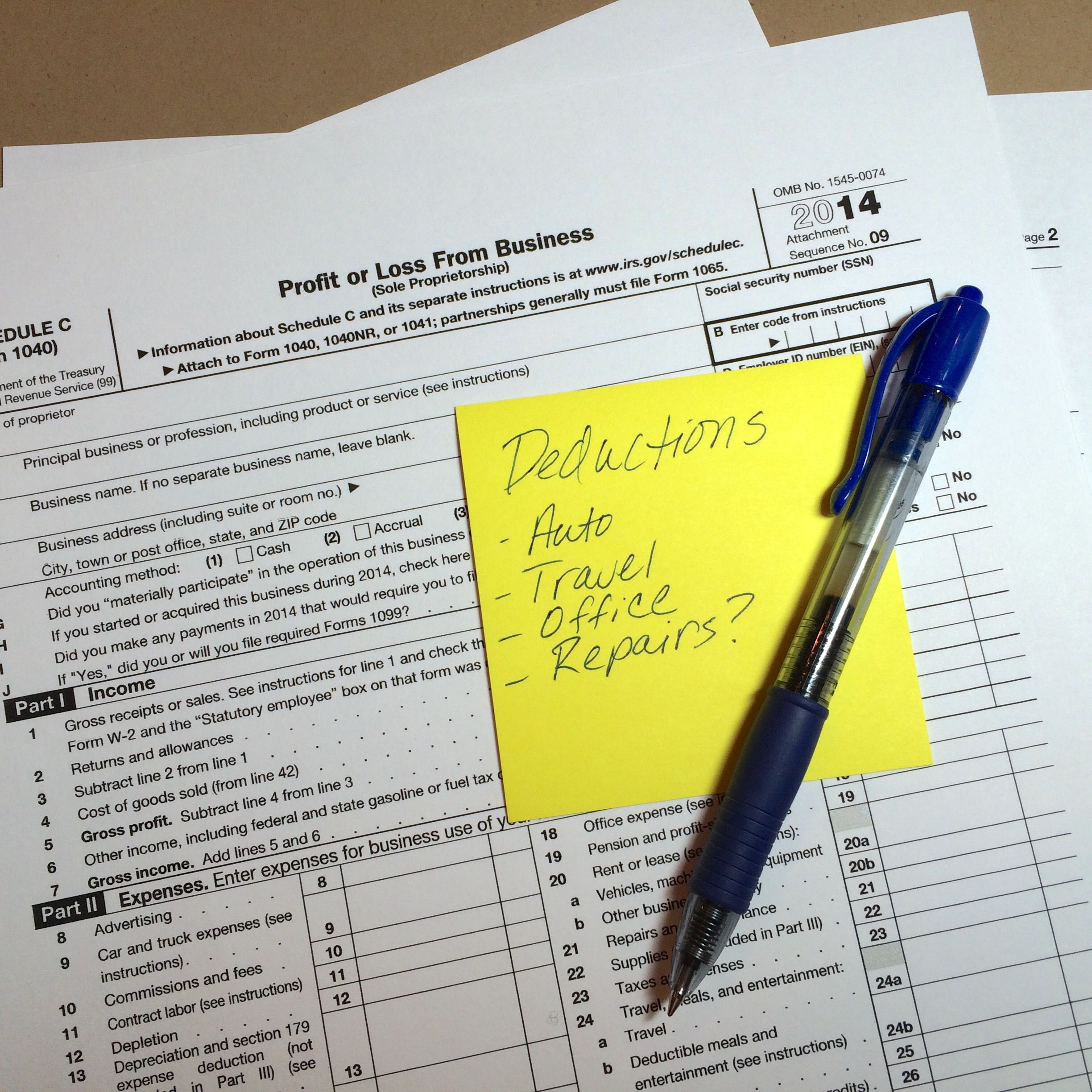 Filing Small Business Taxes on Schedule C