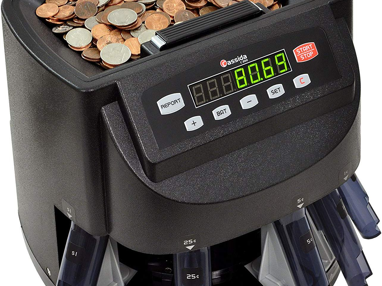 Emerson Automatic Coin Sorter Counter Wrapper Machine 29 Coin Tainer Paper