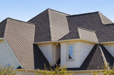 Closeup of a house's roof