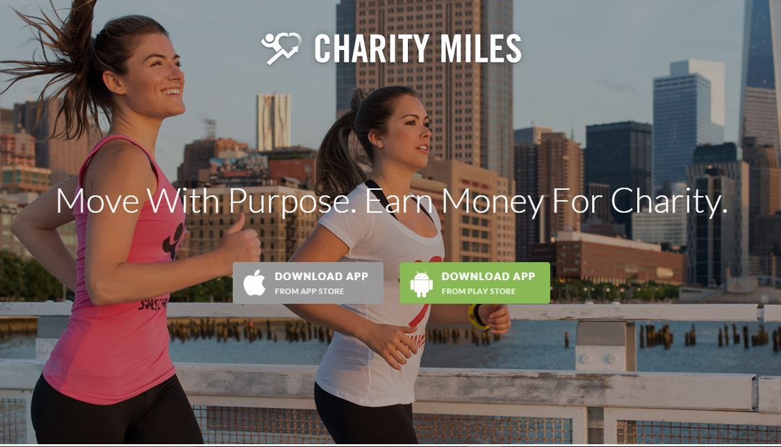 Charity Miles is a smartphone app for charitable giving