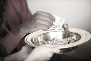 Offering at a church.