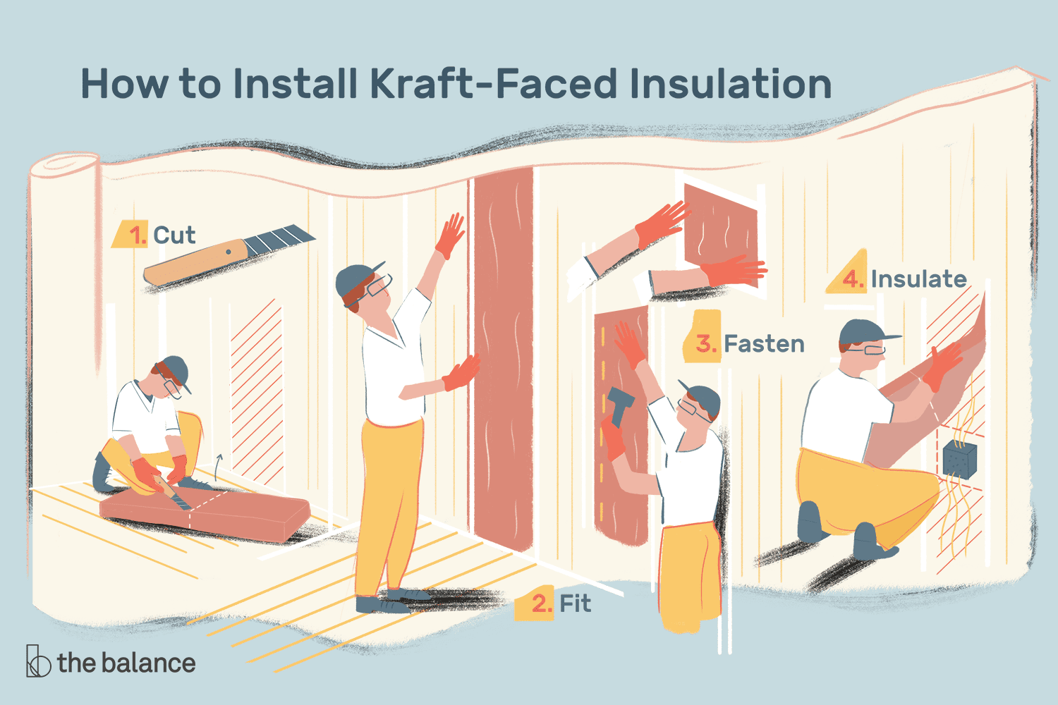 How to Install Kraft-Faced Insulation