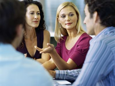 People discussing motivational market research results