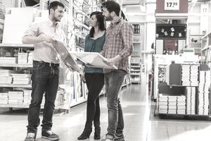 2e74ce4ddf 10 Simple Ways to Increase Retail Sales. Client counselling in a hardware  store