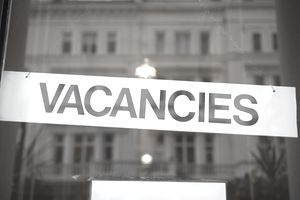Rental vacancy sign in window
