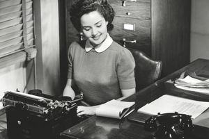 Traditional secretary image, circa 1950s