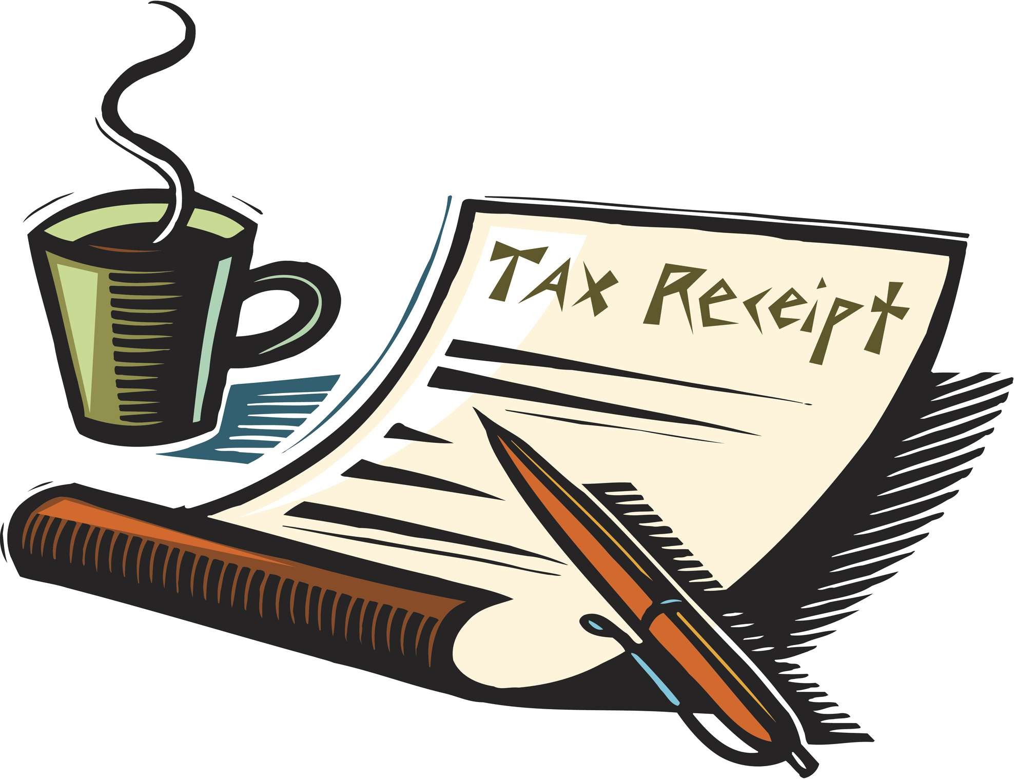 Illustration of a tax receipt for a charitable donation