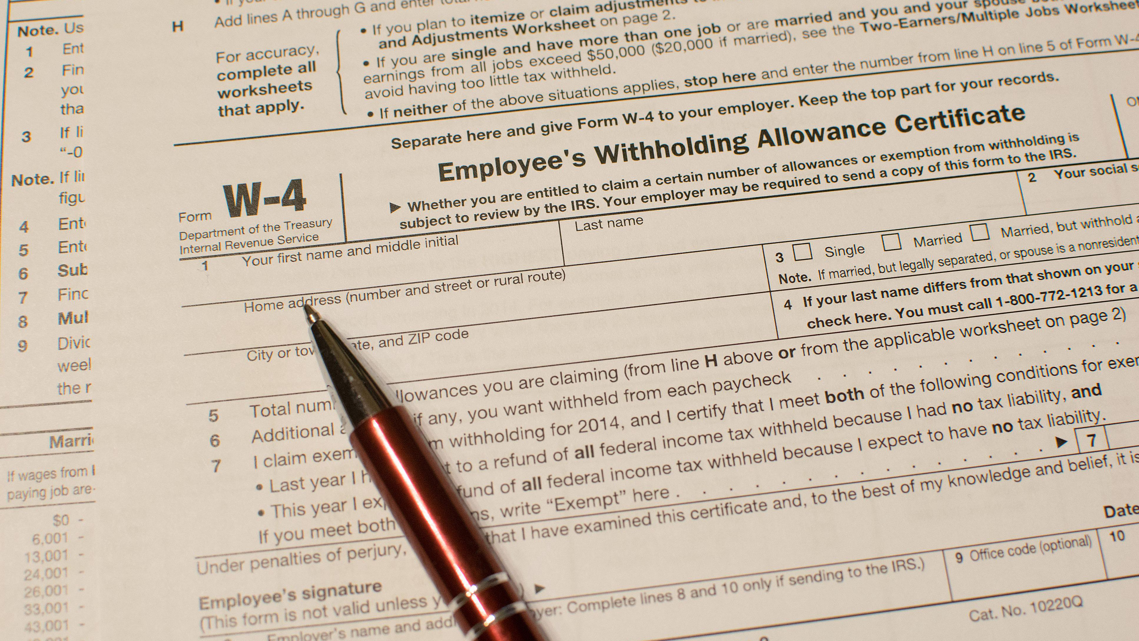 2020 W 4 Printable Form.Form W 4 Information For Employers