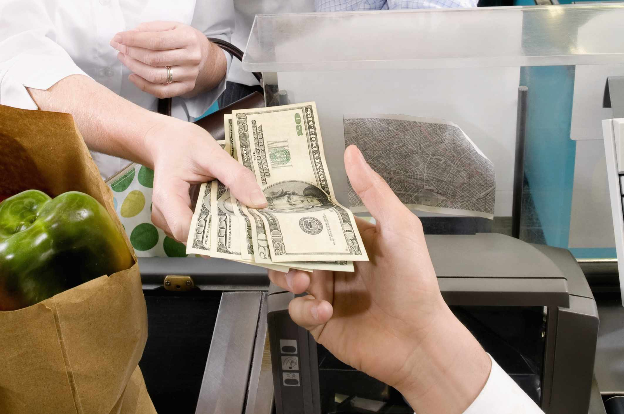 Paying for groceries