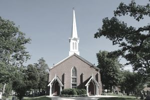 Photograph of a scenic country church in Virginia.