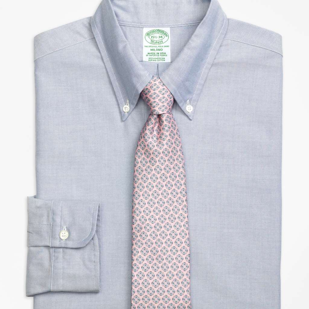 Brooks Brothers Original Polo® Button-Down Oxford Milano Slim-Fit Dress Shirt