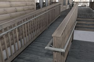 Log Building Wheelchair Handicapped Wooden Access Ramp