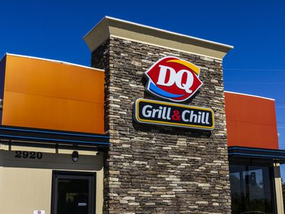 Exterior of a Dairy Queen Fast Food Franchise Location