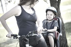Mother and Son on a bike