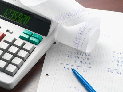 Bookkeeping for a small start up using a calculator and ledger.