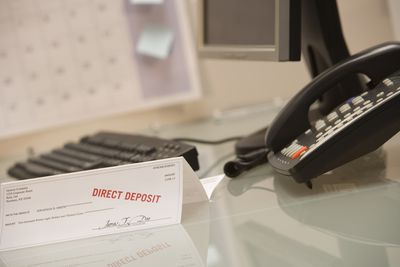 Direct deposit sign and phone
