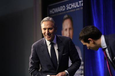 Starbucks CEO Howard Schultz Discusses His Book In NYC