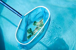 Net in pool with US currency