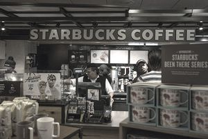 Starbucks Coffee Store Along New York State Thruway