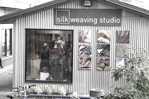 Outdoor view of a weaving studio