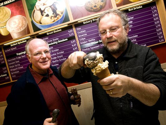The history of Ben and Jerry's ice cream.