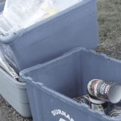 recycling rate and bin size,blue box size and recycling,recycling bin size boosts rate