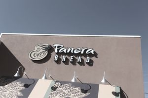 front of panera bread store