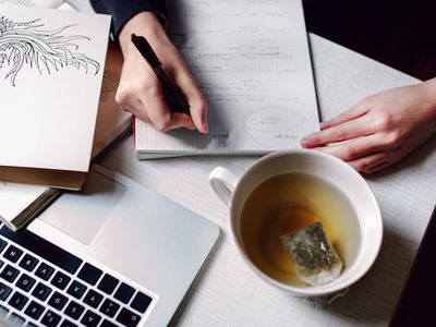 Student Learning With Good Cup Of Tea