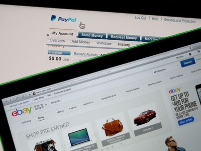Ebay and paypal on tablet screens