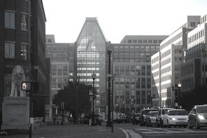 Street view of the United State Patent and Trademark Office Headquarters, Alexandria, VA