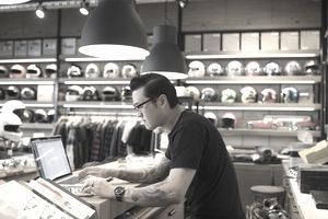 Small business owner working on an ecommerce marketing plan