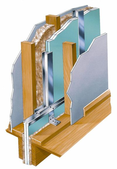 Fire rated separation walls assembly